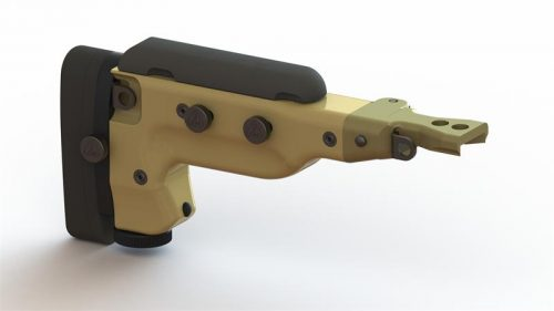 Folding Butt Stock with Butt Spike